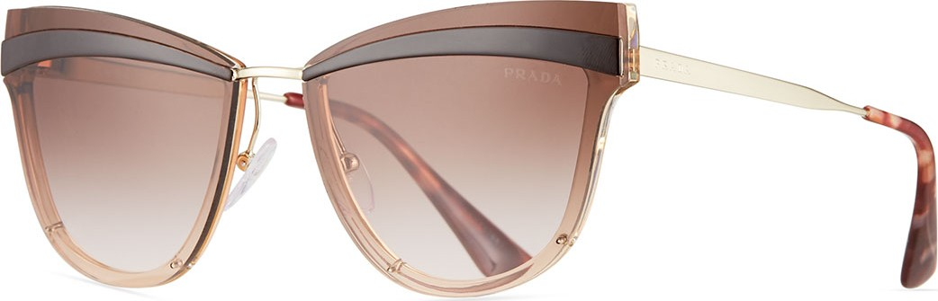 771ae444673 Prada Cat-Eye Propionate Mirrored Sunglasses.  400. Neiman Marcus
