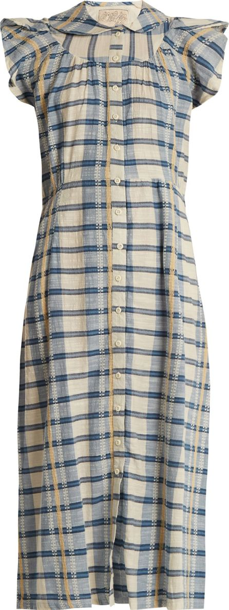ace&jig Ophelia ruffle-sleeved checked cotton dress