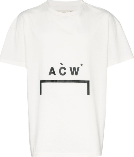 A-Cold-Wall* White bracket logo printed cotton Tshirt