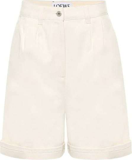 LOEWE High-rise cotton Bermuda shorts