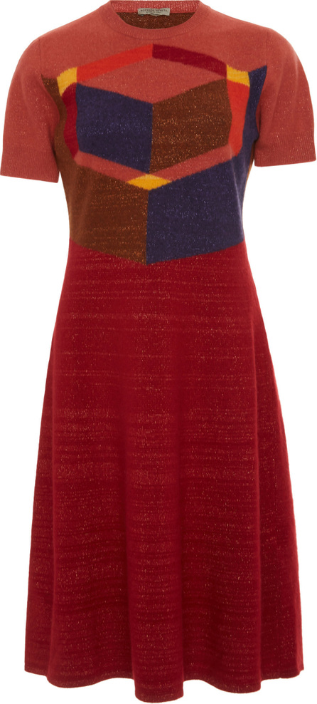 Bottega Veneta Color-Block A-Line Knit Dress