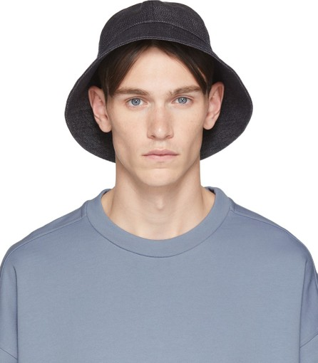 Jil Sander Navy Denim Bucket Hat