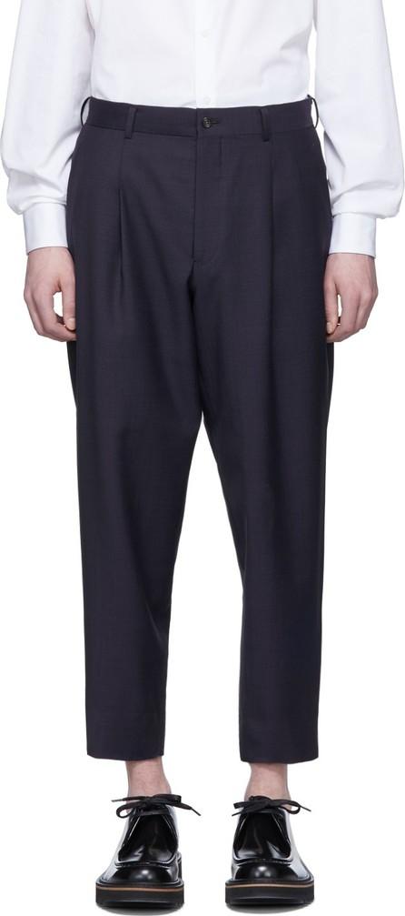 Comme des Garçons Homme Deux Navy Micro Check Trousers