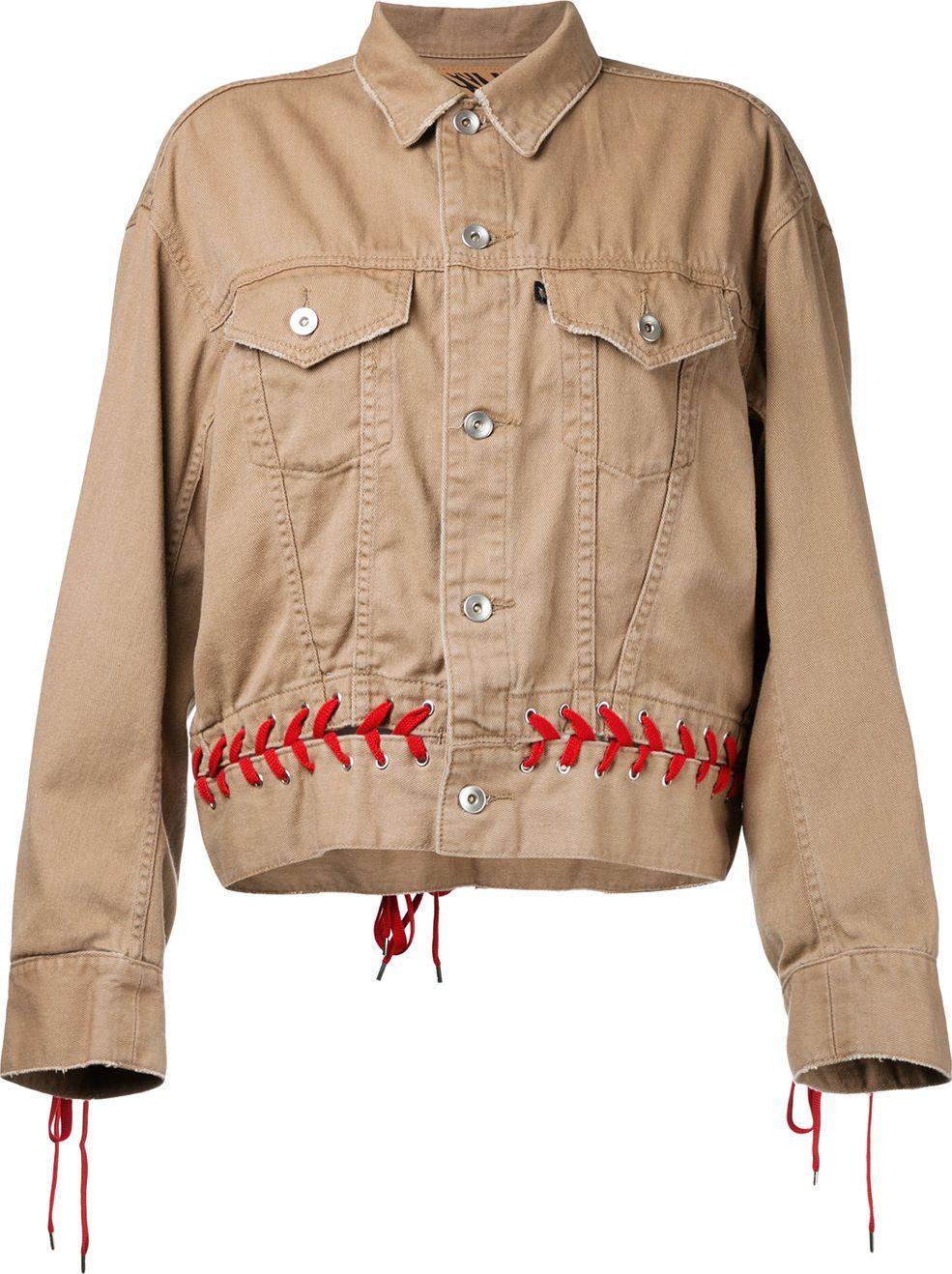 G.V.G.V. - denim shoe lace up jacket