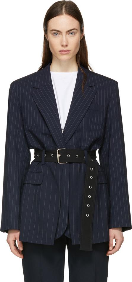 3.1 Phillip Lim Navy Pinstripe Oversized Tailored Blazer