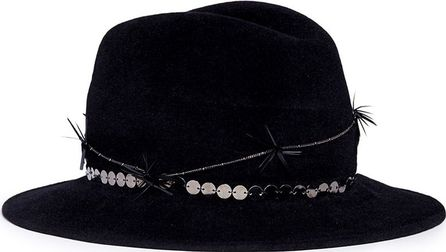 Gigi Burris 'Reagan' twisted feather felt fedora hat