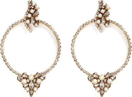 Erickson Beamon 'Together Forever' gold vermeil Swarovski crystal hoop earrings