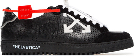Off White Black Low 2.0 leather sneakers