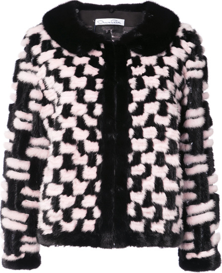 Oscar De La Renta Tweed technique jacket