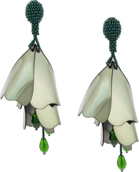Oscar De La Renta Large Impatients flower drop earrings