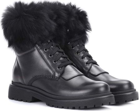 Moncler Patty leather ankle boots