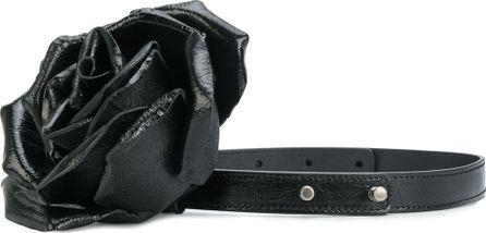 Saint Laurent floral embellished thin belt