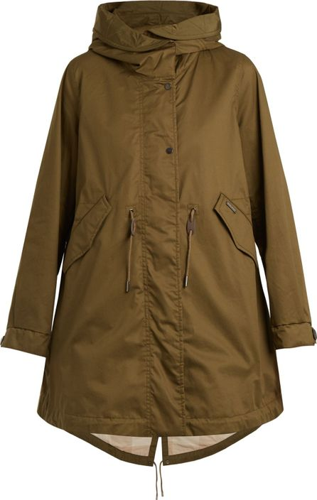 Woolrich Leather-trimmed cotton hooded parka