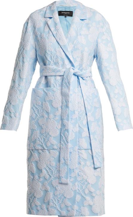 ROCHAS Floral-jacquard cotton-blend coat
