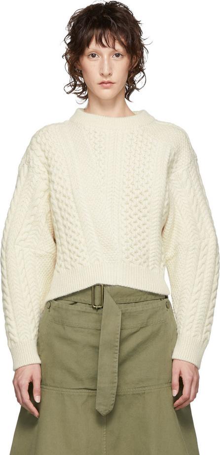 Stella McCartney White Cable Knit Sweater