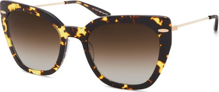 Barton Perreira Catroux Acetate & Titanium Cat-Eye Sunglasses