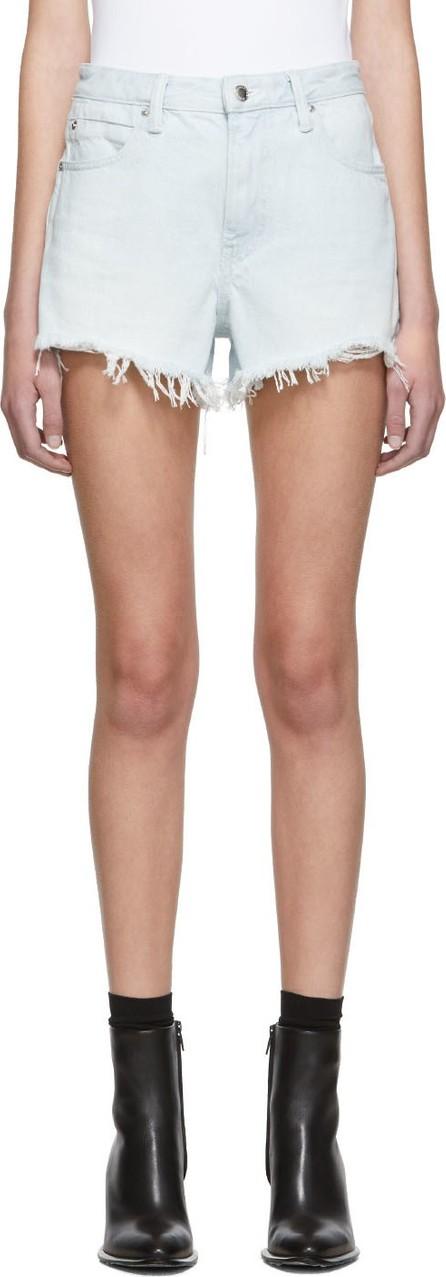 Alexander Wang Blue Denim Bite Shorts