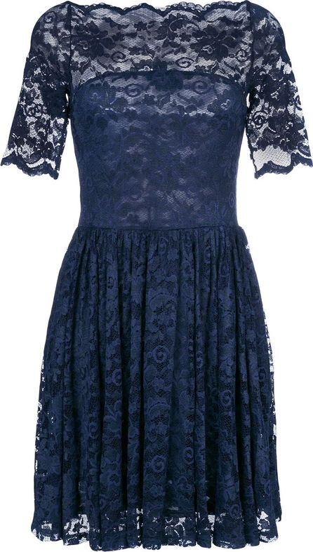 Ganni lace embroidered shift dress