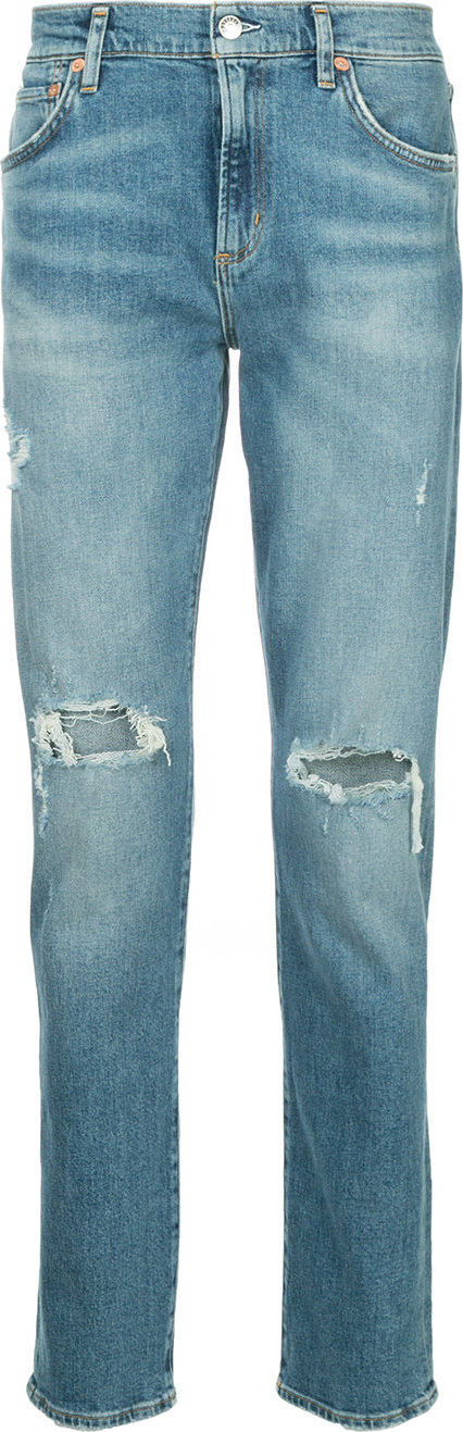 Agolde Distressed straight-leg jeans