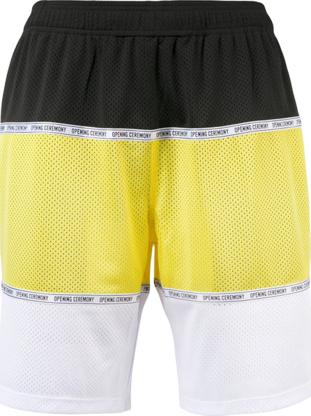 Opening Ceremony Colour block perforated shorts