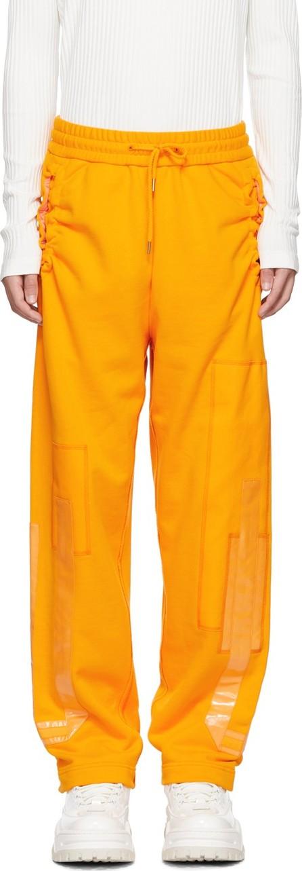 Feng Chen Wang Orange French Terry Lounge Pants