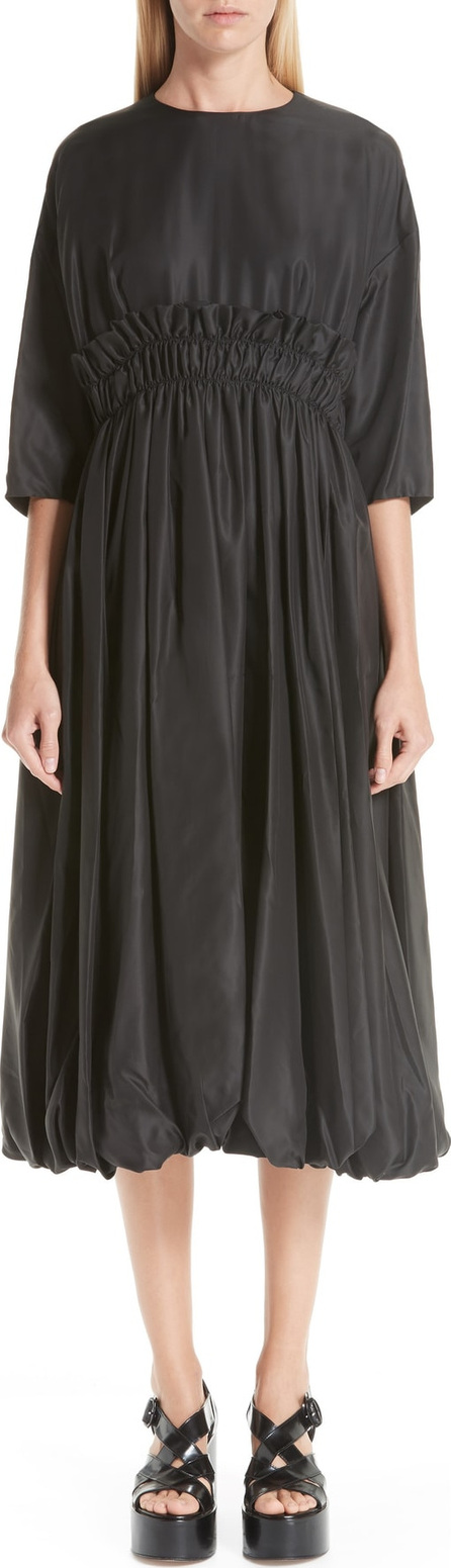 Noir Kei Ninomiya Ruched Waist Twill Dress