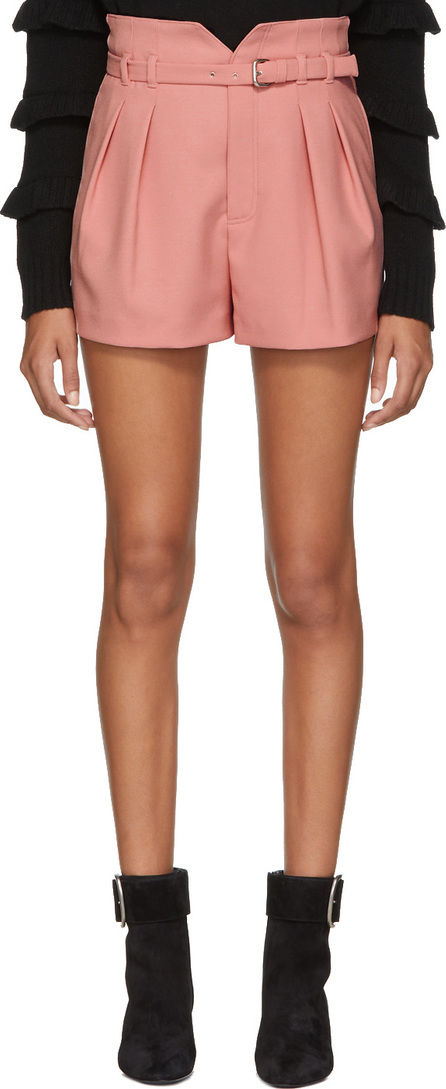 RED Valentino Pink Pleated Shorts