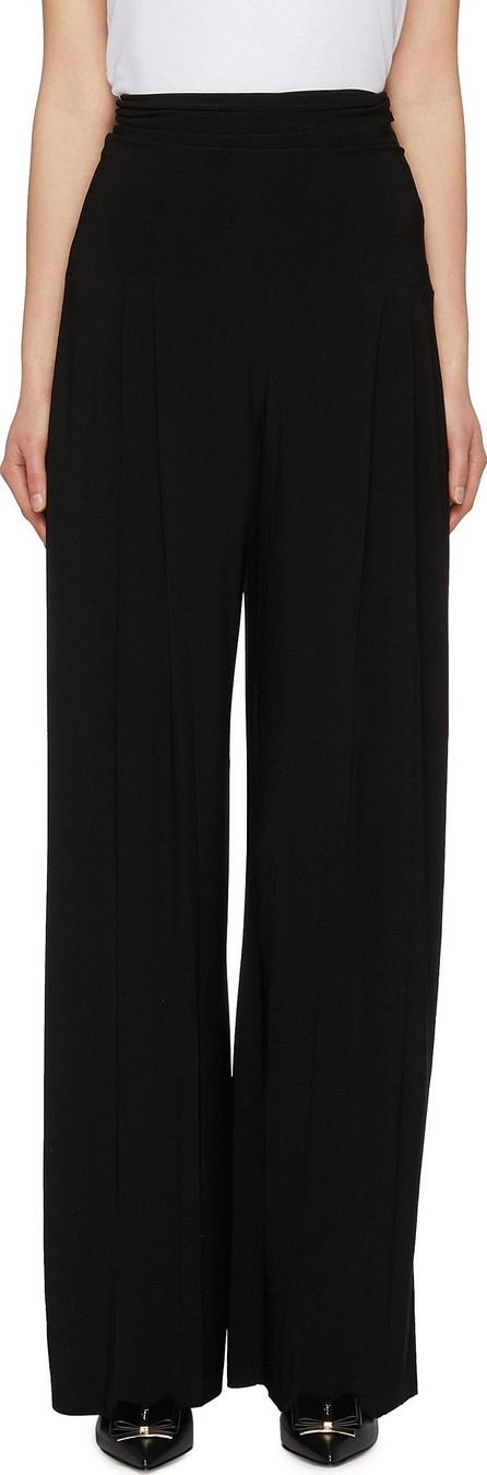 Norma Kamali High waist pleated flared pants