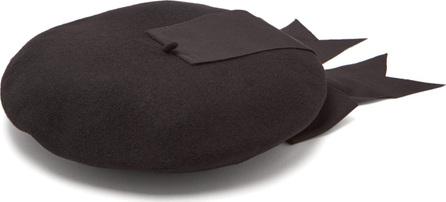 Benoît Missolin Grosgrain-trimmed wool-blend beret