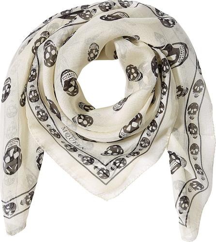 Alexander McQueen Printed Silk Chiffon Scarf