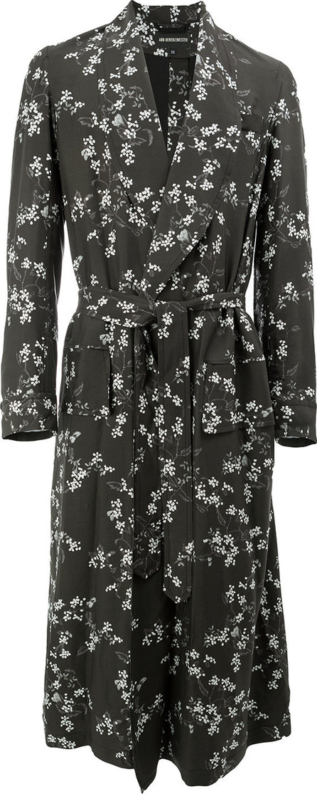 Ann Demeulemeester Floral trench coat
