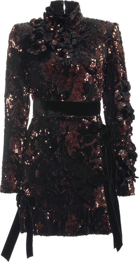 ELIE SAAB Paillette-Embellished Velvet Mini Dress
