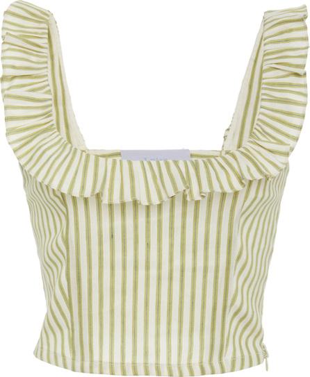 luisa beccaria Striped Sleeveless Top