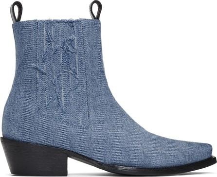 Diesel Red Tag Indigo Shayne Oliver Edition Denim Chelsea Boots
