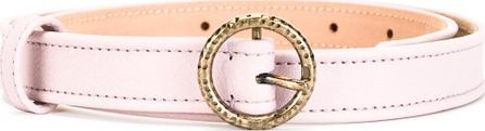 Agnona round buckle belt