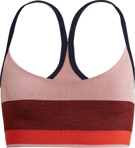 LNDR Shift stripe stretch-jersey sports bra