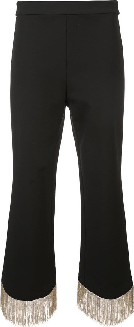 Alexis Fringed hem cropped trousers