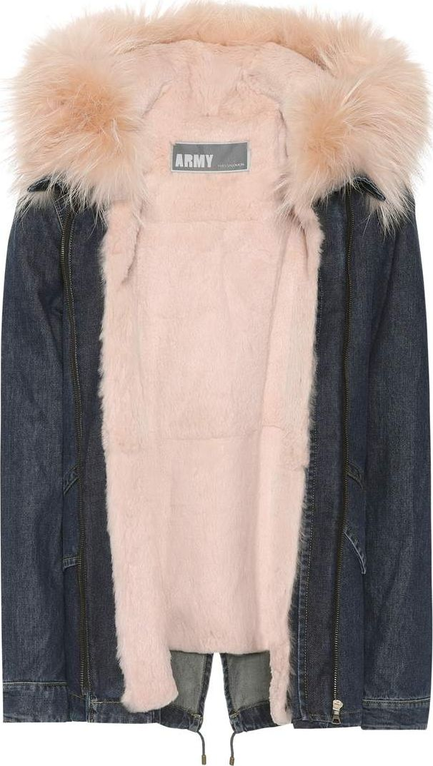 Army By Yves Salomon - Fur-trimmed denim parka