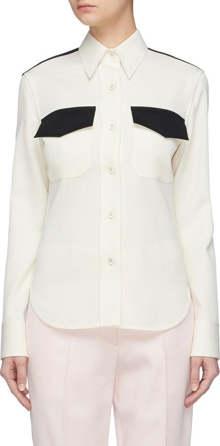 Calvin Klein 205W39NYC Colourblock virgin wool twill uniform shirt