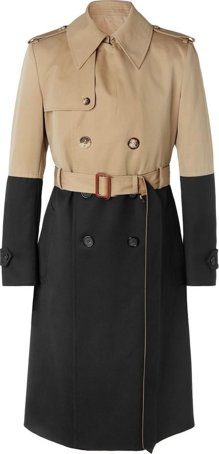 Alexander McQueen Colour-Block Cotton-Gabardine and Wool Trench Coat