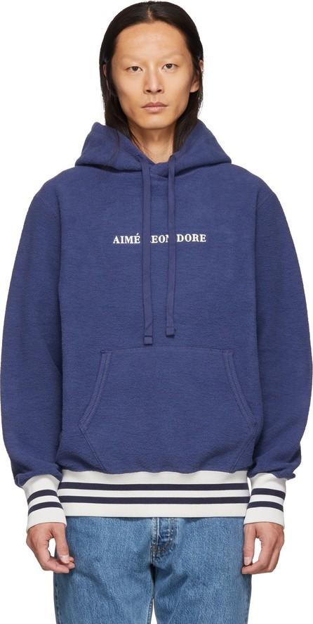 Aimé Leon Dore Navy Reverse Fleece Hoodie
