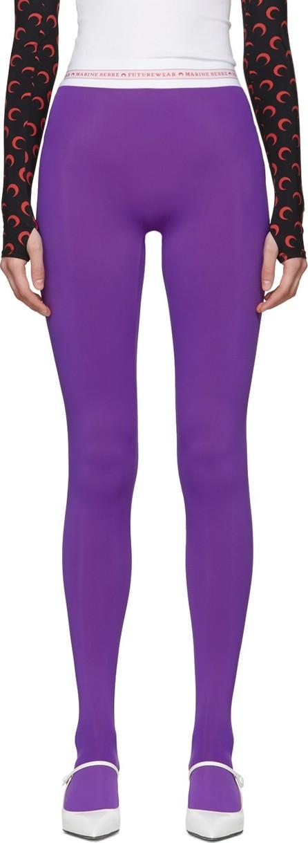 Marine Serre Purple Jersey Leggings