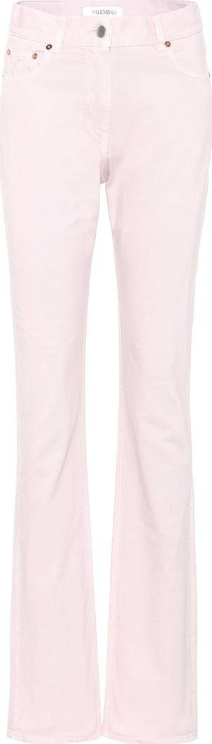 Valentino High-waisted slim-straight jeans