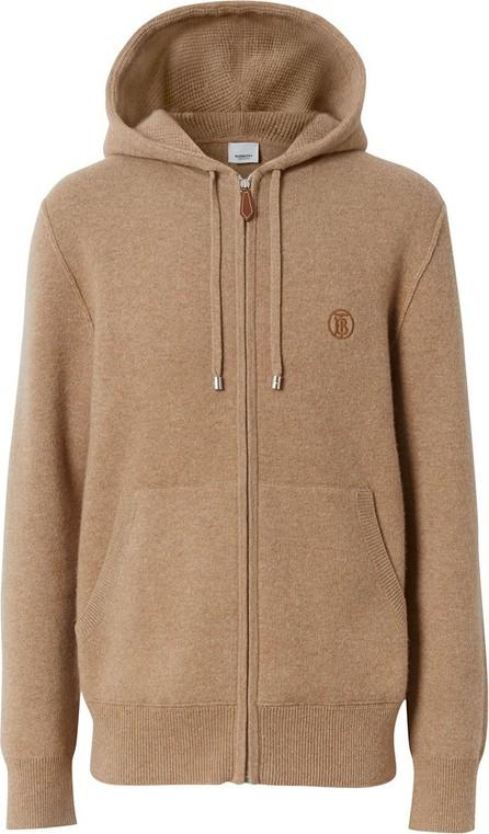 Burberry London England Embroidered monogram zipped hoodie