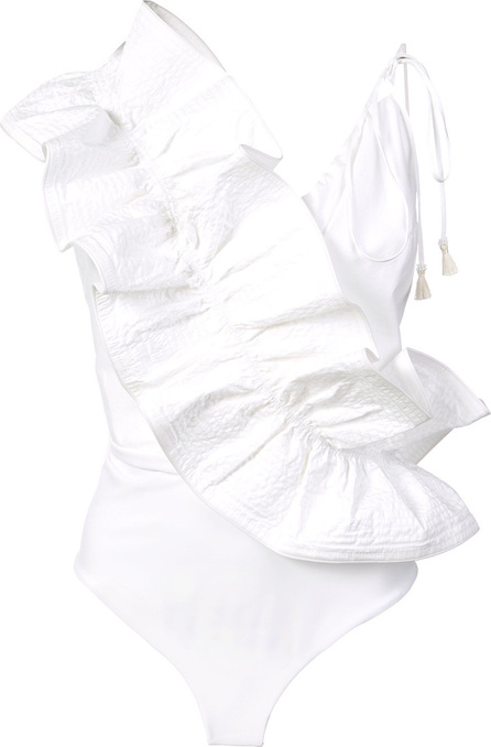 Johanna Ortiz Ruffle sleeved bodysuit
