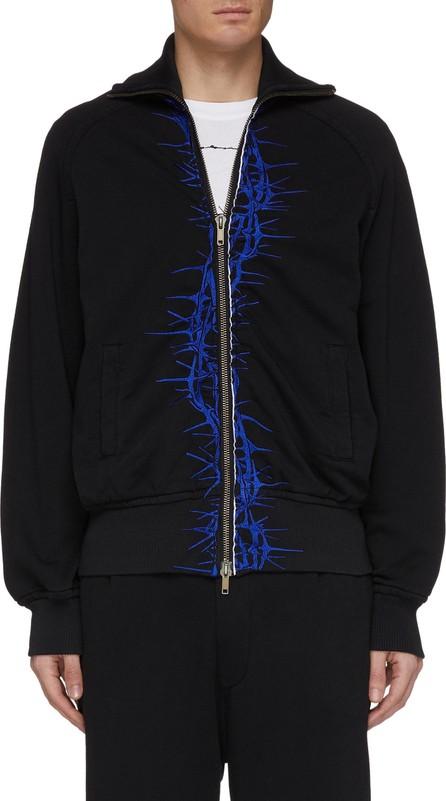 Haider Ackermann Thorn embroidered placket bomber jacket