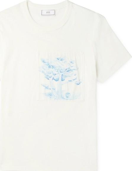 AMI Appliquéd Cotton-Jersey T-Shirt
