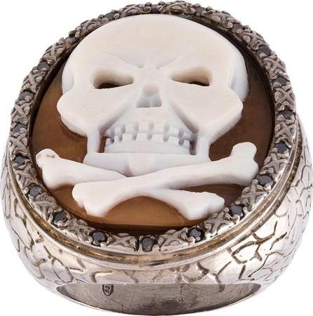 AMEDEO embossed skull ring