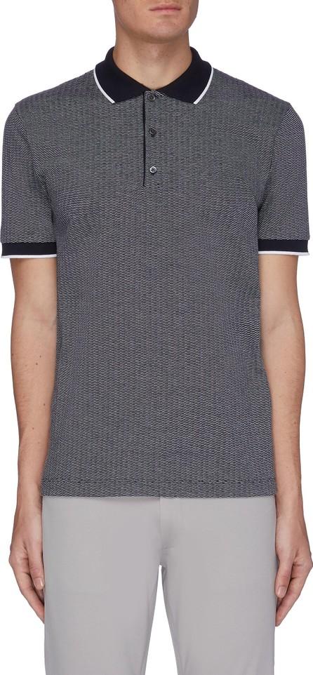 Theory Geometric Knit Polo Shirt