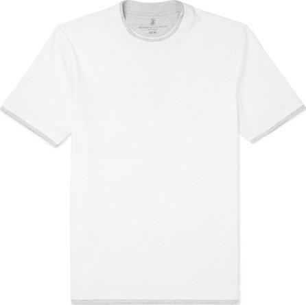 Brunello Cucinelli Slim-Fit Layered Cotton-Jersey T-Shirt